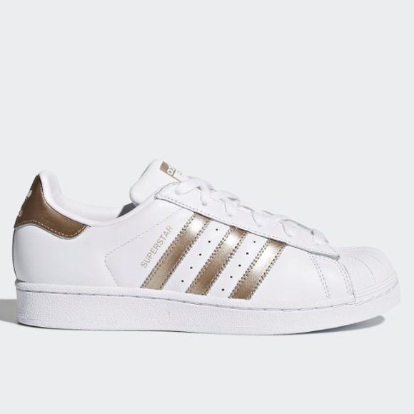pretty nice 13145 11c82 Adidas Women's Superstar Shoe in Gold